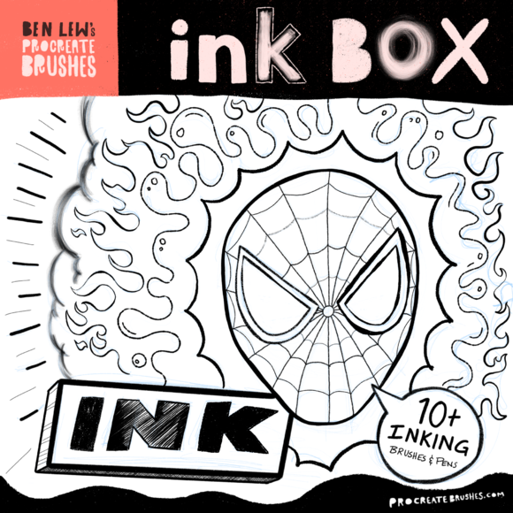 Procreate Ink Box @creativework247   Photoshop AddOns - Actions