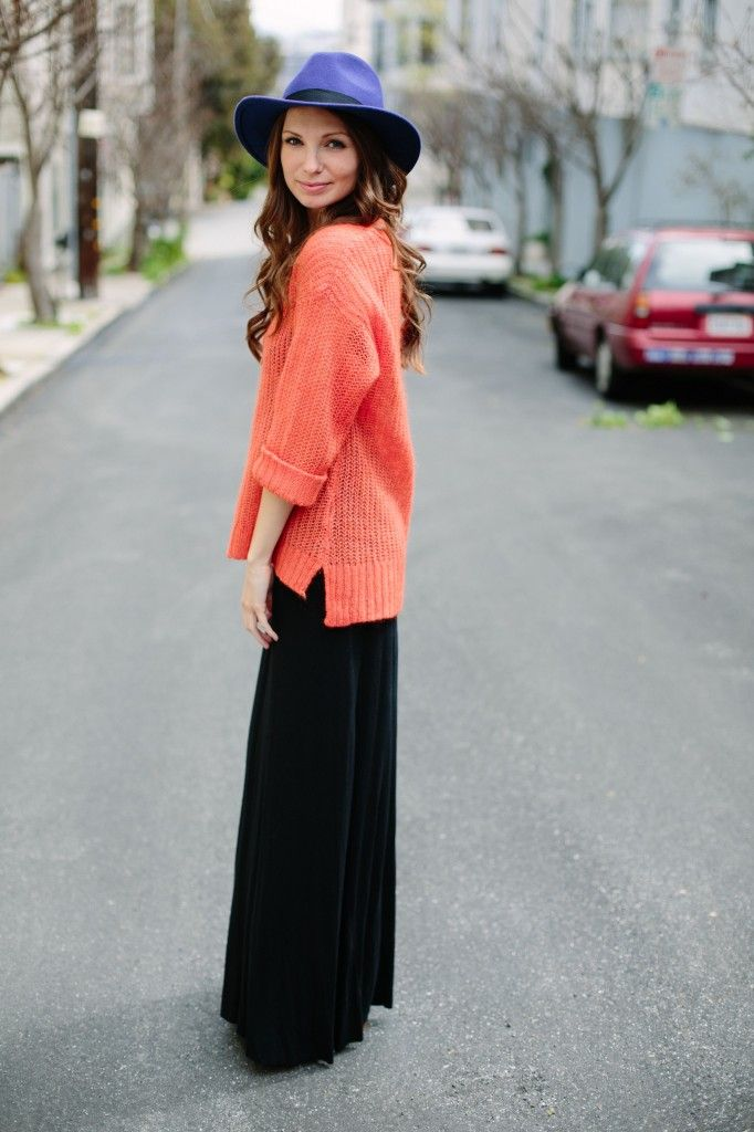 Sweaters Over Maxi Dresses