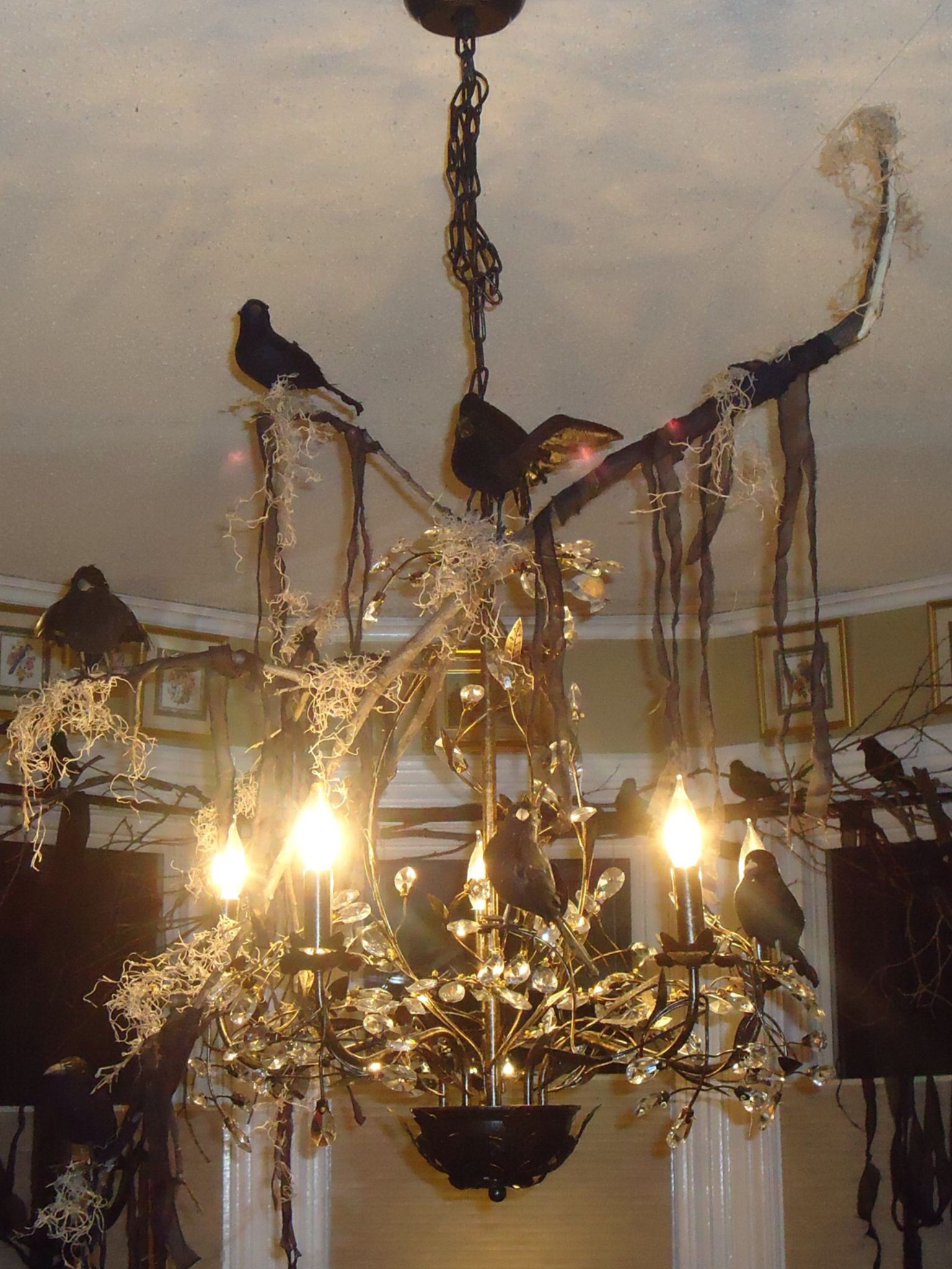 new style 6d060 29cff Halloween Chandelier. Cute and Creepy! Perfect for a ...