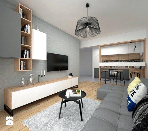 Aranzacje Wnetrz Salon Mieszkanie 40 M2 Salon Styl Skandynawski Big Idea Studio Projektowe Przeglad Loft Design Apartment Design Living Room Designs