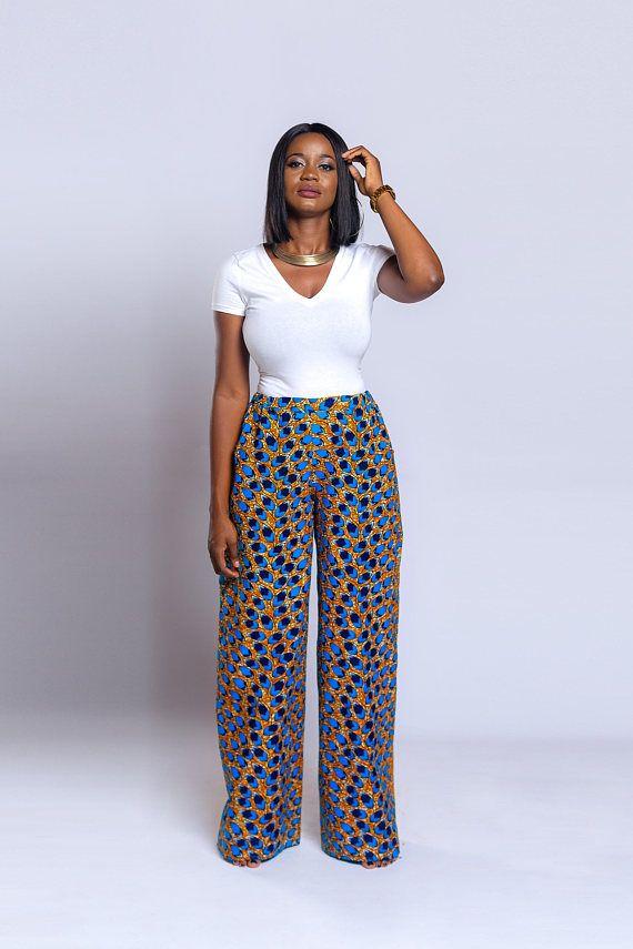 95ced23d04b78 Ankara pants Ankara trousers Ankara Palazzo pants African