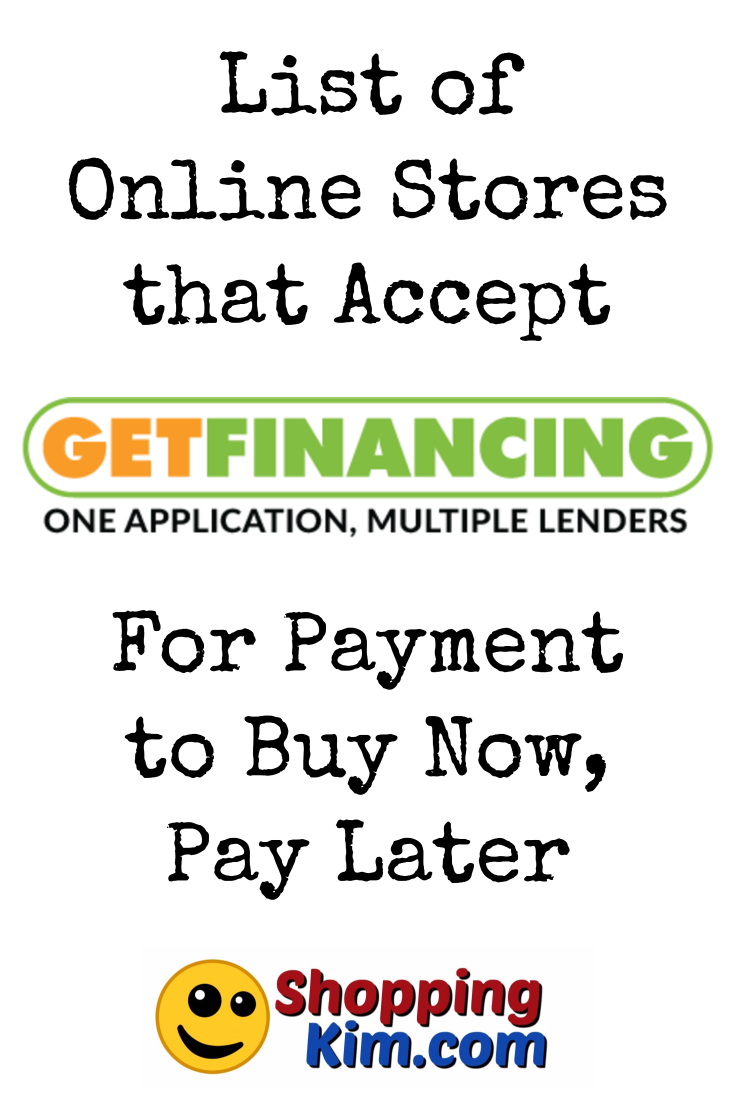Online Stores That Accept Getfinancing For Payment To Buy Now Pay