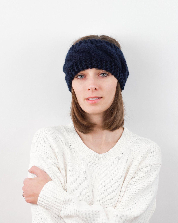 9e3da399231 Cable Knit Headband Pattern. Modern and Simple Knitting Pattern by  Forefolk. Ear warmer pattern