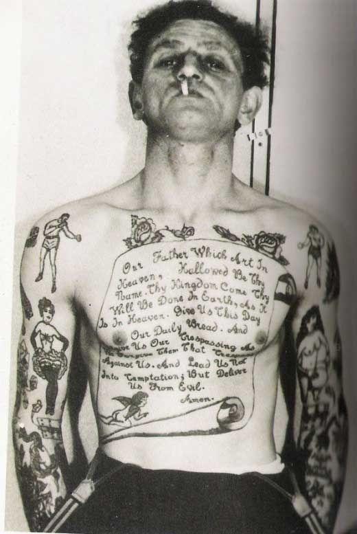 L\u0027histoire moderne des tatouages en photos , tattoo vintage
