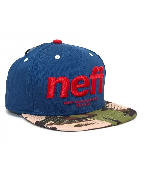 aca02569eef1c NEFF Hardr Snapback cap Navy