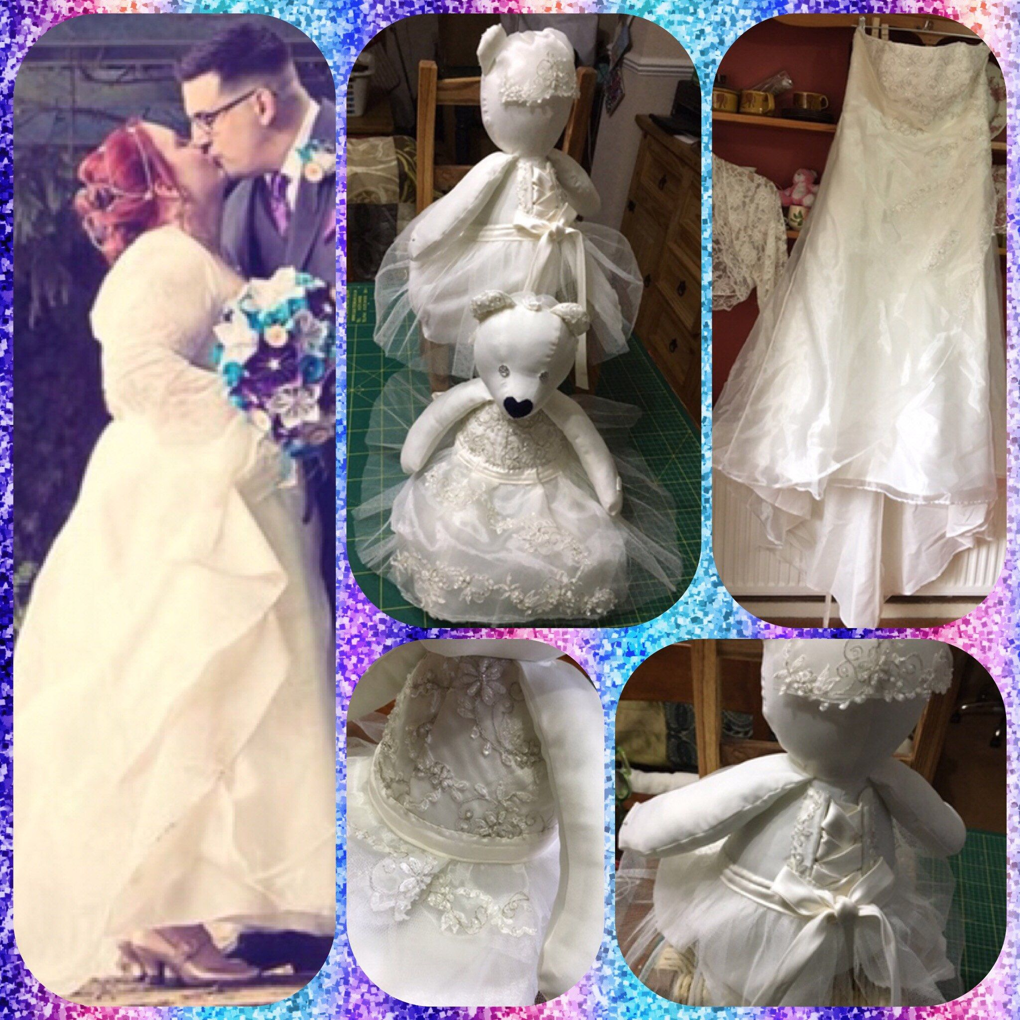 Wear your wedding dress on your anniversary  Beautiful BridalMemoryBears handcrafted from your precious wedding