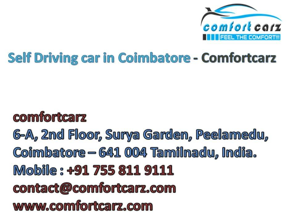 Comfort Carz provide self driving car services in