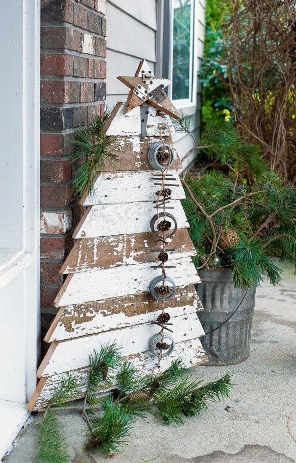 Rustikale Weihnachtsdeko selber machen: effektvolle und einfache Ideen #weihnachtsdekohauseingangaussen