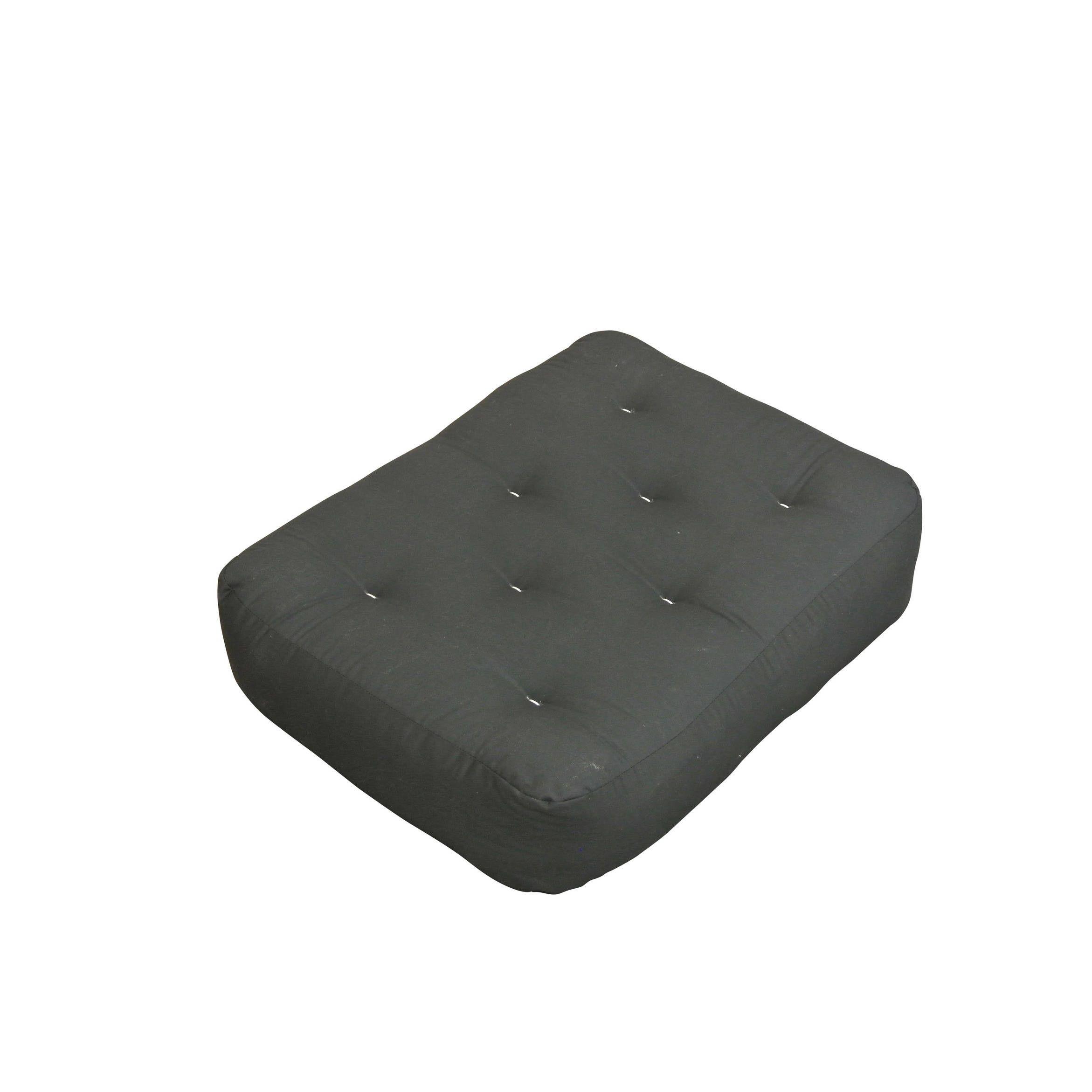 9 Triple Foam And Cotton Chair Ottoman Black Duct Futon Mattress Polyester Blend Inch
