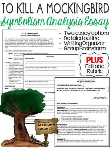 To Kill A Mockingbird Symbolism Analysis Five Paragraph Essay Teaching Literature Essay Paragraph Essay