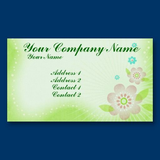 Spring Flowers Business Card Template