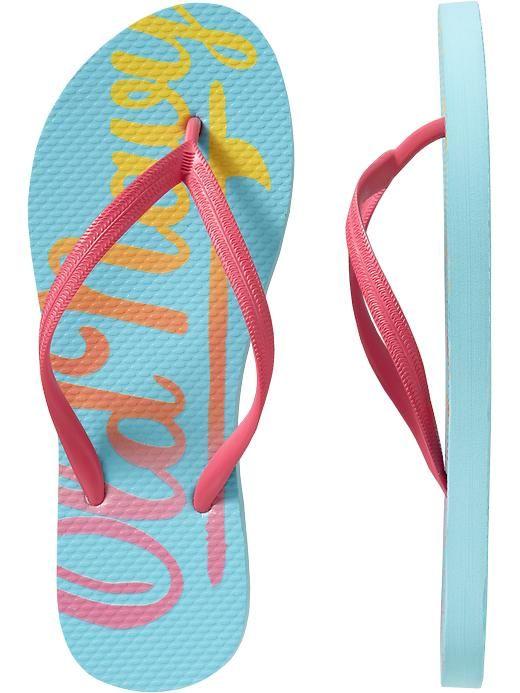 3b62fd53a86 Old Navy Women s Printed Flip Flops in Bora Bora Logo - So cute ...