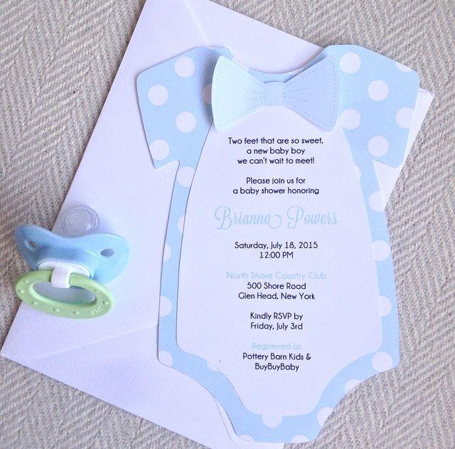 Onsie Baby Shower Invitation