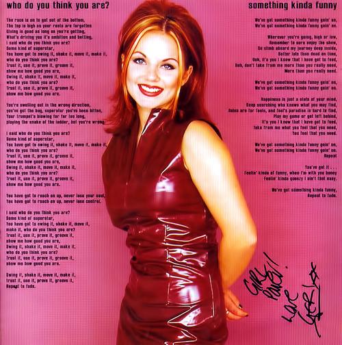 Spice Girls First Album - Geri - Ginger