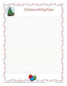 Christmas Writing Paper For Kids Free Printable Template Christmas Writing Paper Christmas Writing Holiday Writing Paper