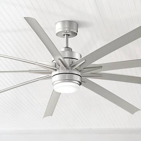 84 Odyn Brushed Nickel Led Outdoor Ceiling Fan 8c755 Lamps