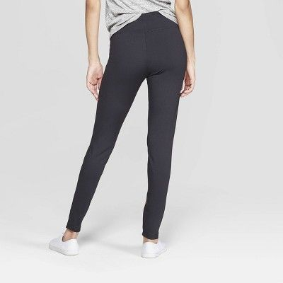 cfdaf15e86bbe Women's with Wide Waistband with Rose Gold Foil Leggings - Xhilaration  Black M