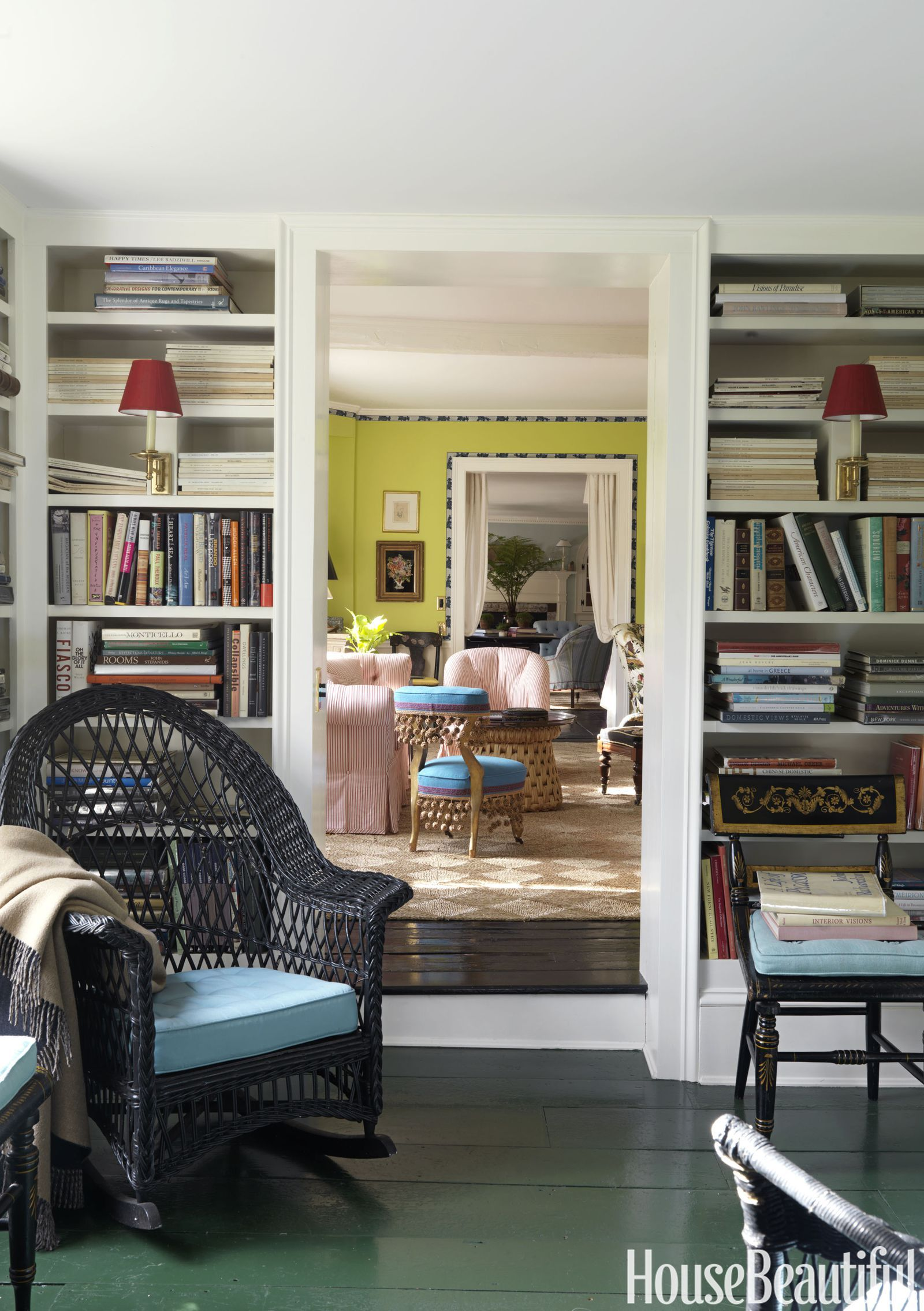 These 15 Color Trends Are Dominating 2018 Home Library Design Home Library Decor Home