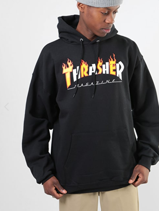 c40143afc Details about Thrasher Flame Mag Pullover Hood Black in 2019 ...