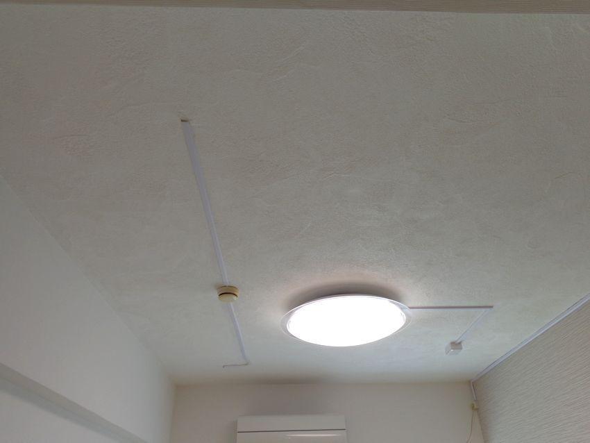賃貸マンション リビング天井の漆喰塗り リビング 天井 リビング