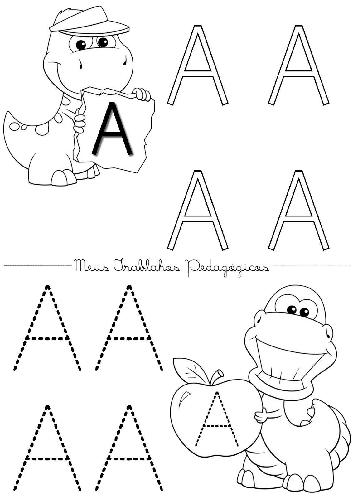 Saindo Atividades Quentinhas Alfabeto Completo De A A Z Com Letras Para Pintar E Pontilhar