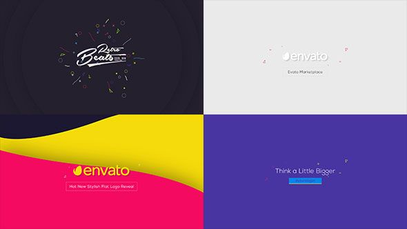 Flat Logo Animations Flat Logo Logos And Template - After effects animation templates free download