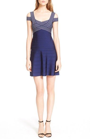 Herve Leger 'Archive Collection' Fit & Flare Bandage Dress available at #Nordstrom
