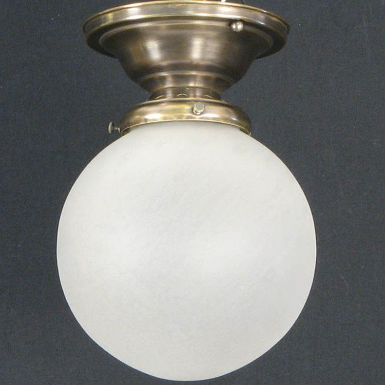 Small Frosted Globe with Vented Fixture u2013 PW Vintage Lighting : pw vintage lighting - www.canuckmediamonitor.org