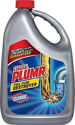 Liquid Plumr Full Clog Destroyer For Clogged Sinks Bathtub