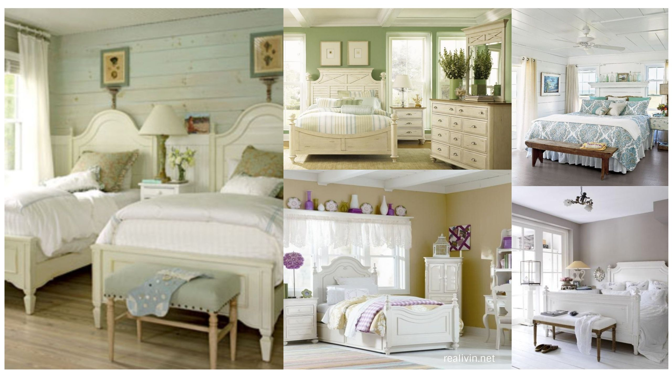 lovely distressed white bedroom furniture - realivin