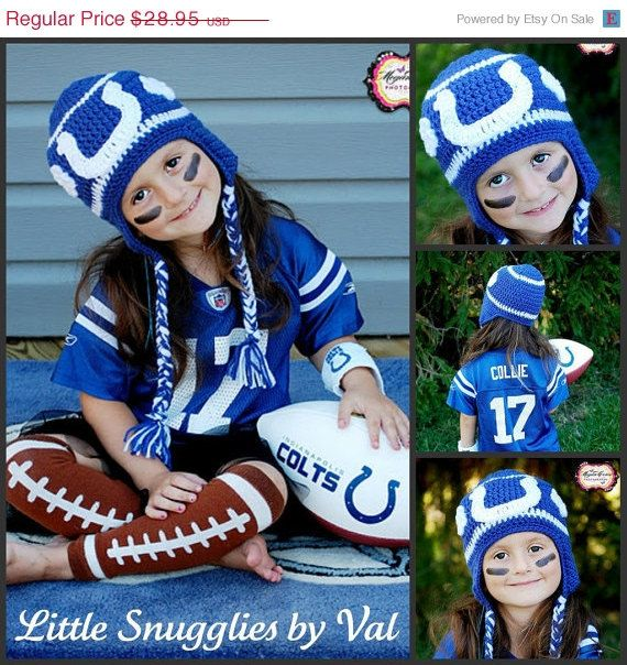 LSBV Girly Indianapolis Colts Fan Hat by LittleSnuggliesbyVal, $26.92