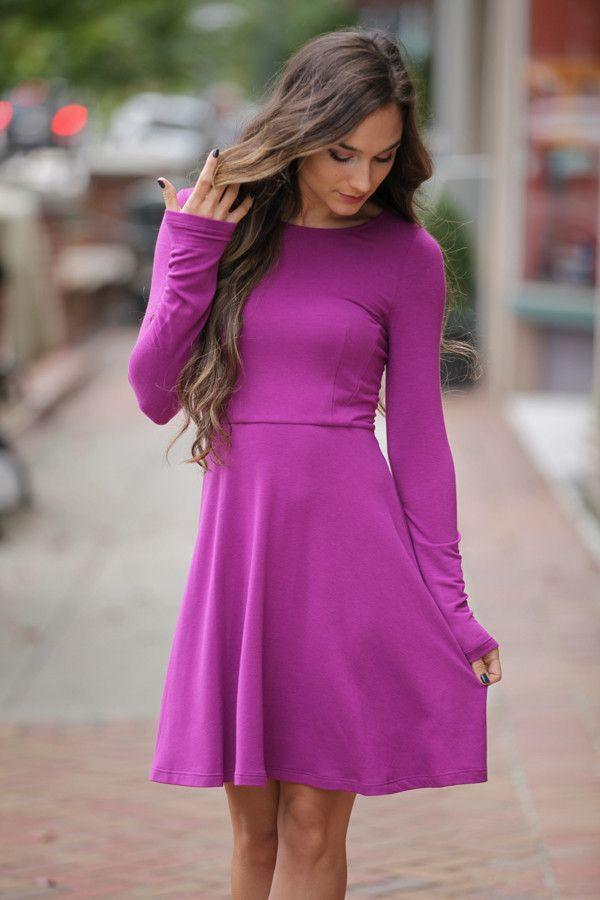 Thinking Out Loud Purple Dress