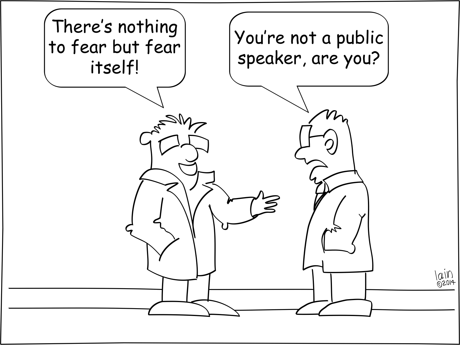 Cartoon Slides For Controlling Your Fear Toastmasters