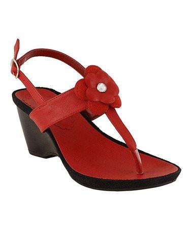 Look at this #zulilyfind! Red Slingback Sandal #zulilyfinds