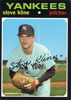 51 Steve Kline Rc New York Yankees Baseball Cards Baseball New York Yankees
