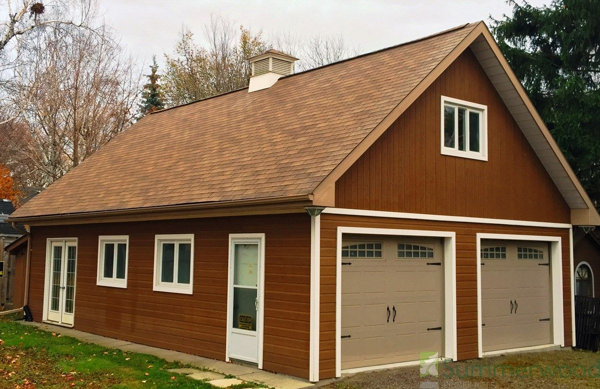 24 X 28 Alpine Garage In Ajax Ontario Wood Garage Kits Prefab Garages Prefab