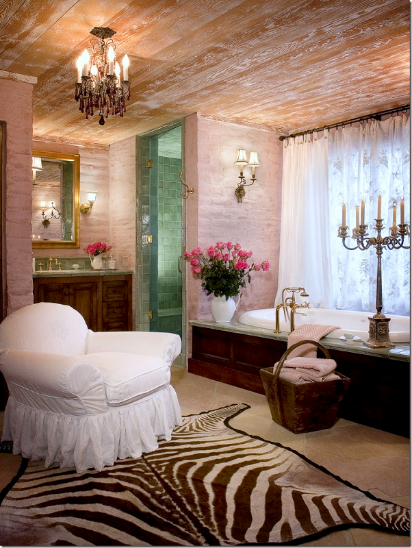 """Les Baux"" Guest Bathroom by Sue Balmforth of Bountiful"