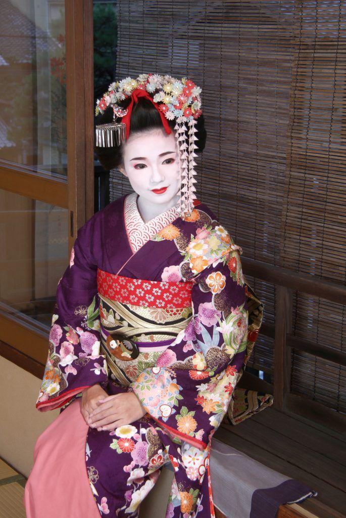Aya as a geisha