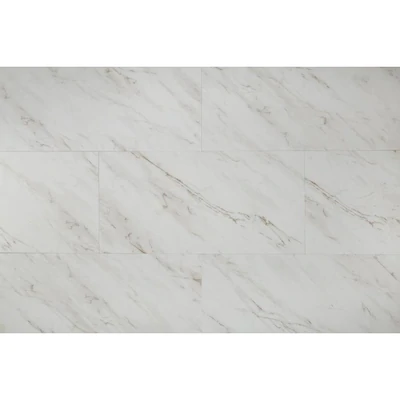 Style Selections 12 In X 24 In Groutable Grecian Marble Peel And Stick Luxury Vinyl Tile Lowes Com Luxury Vinyl Tile Vinyl Tile Luxury Vinyl