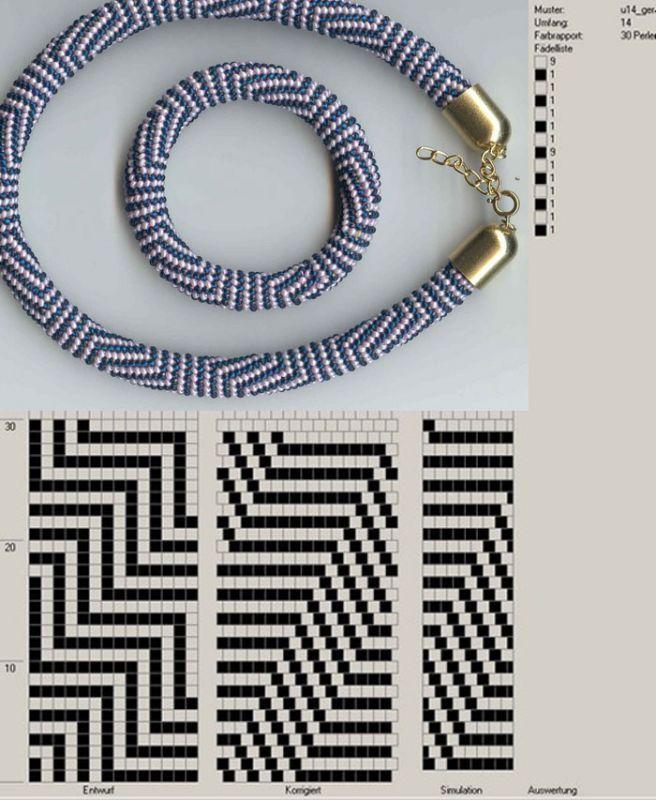 Scheme for beads crochet ropes   Beads   Pinterest   Ganchillo con ...