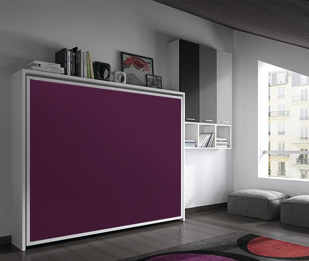 Fleet Armoire Lit Escamotable 140x190cm Ouverture Transversale Canape Convertible Rapido Table Small Spaces Home Home Decor