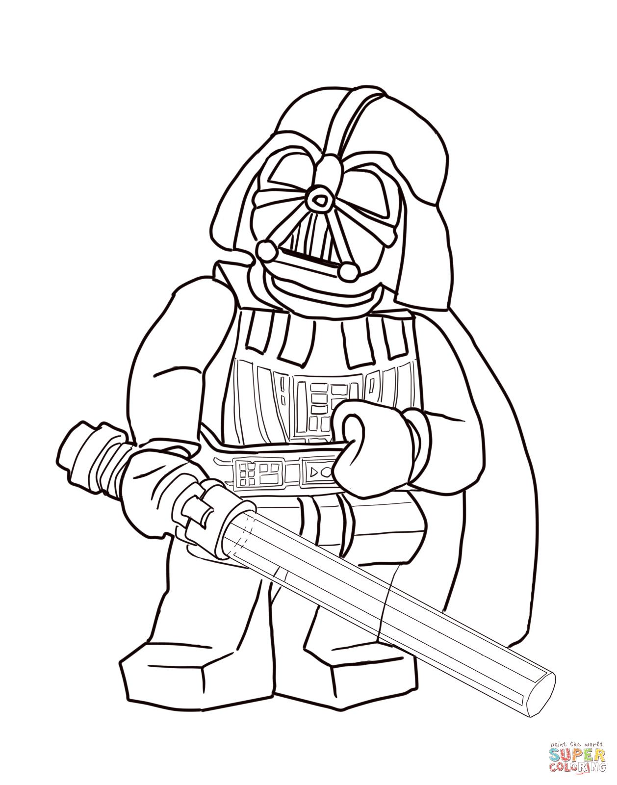 Lego Star Wars Darth Vader Coloring Pages Lego star wars darth vader ...
