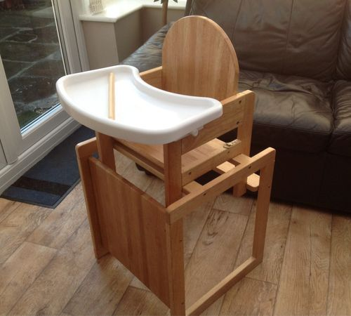 MOTHERCARE Wooden HIGHCHAIR Convertible Table And Chair