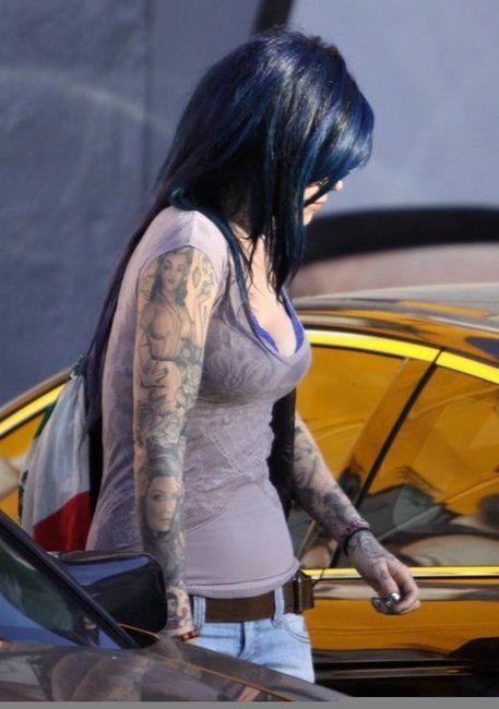 Kat von d blue hair