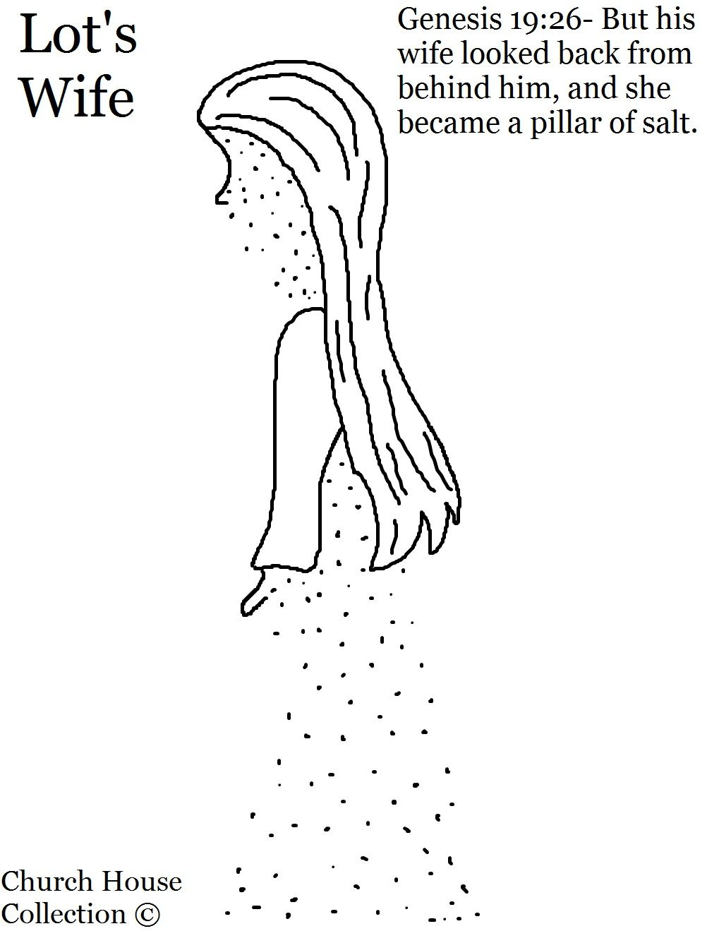 Lot S Wife Turned Into A Pillar Of Salt Coloring Pages Sunday