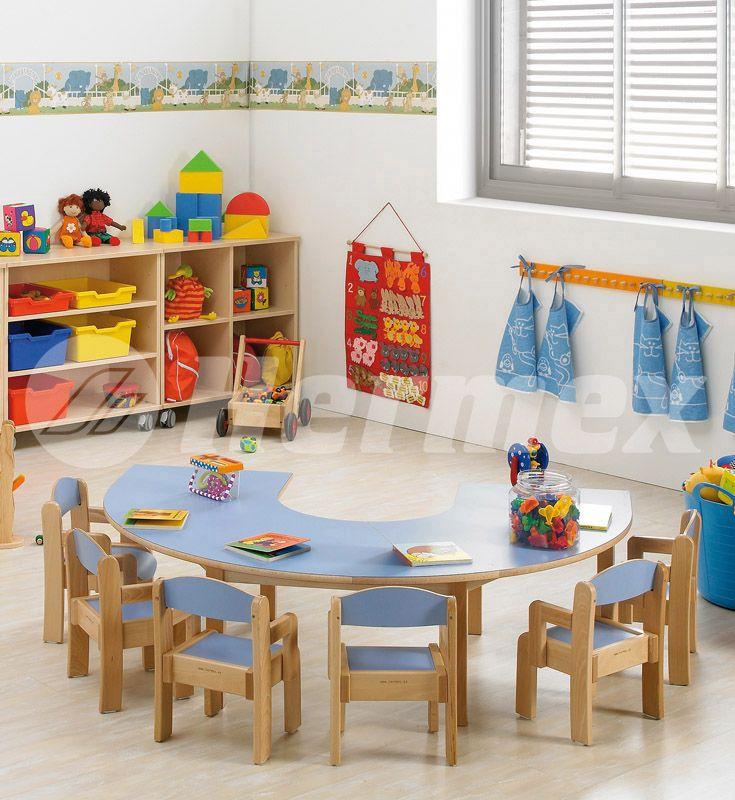 Sillas Europa En Aula De Parvulario Mobiliario Escolar Diseño De Aula Sala De Juegos Para Niños