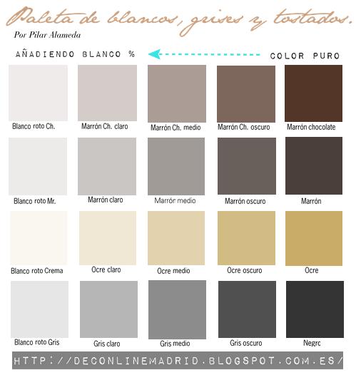 Deco decolook colores pinterest paletas de colores - Nombres de colores de pinturas ...