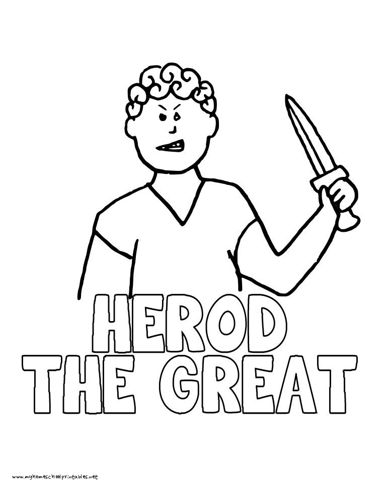 World History Coloring Pages Printables Herod The Great HistoryQuick PrintColoring