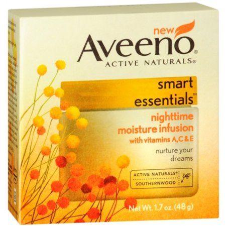 Aveeno Active Naturals Smart Essentials Nighttime Moisture Infusion 1.70 oz, Multicolor
