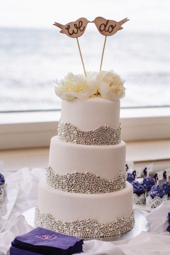 Rustic Wedding Cake Topper Love Birds We Do by braggingbags ...